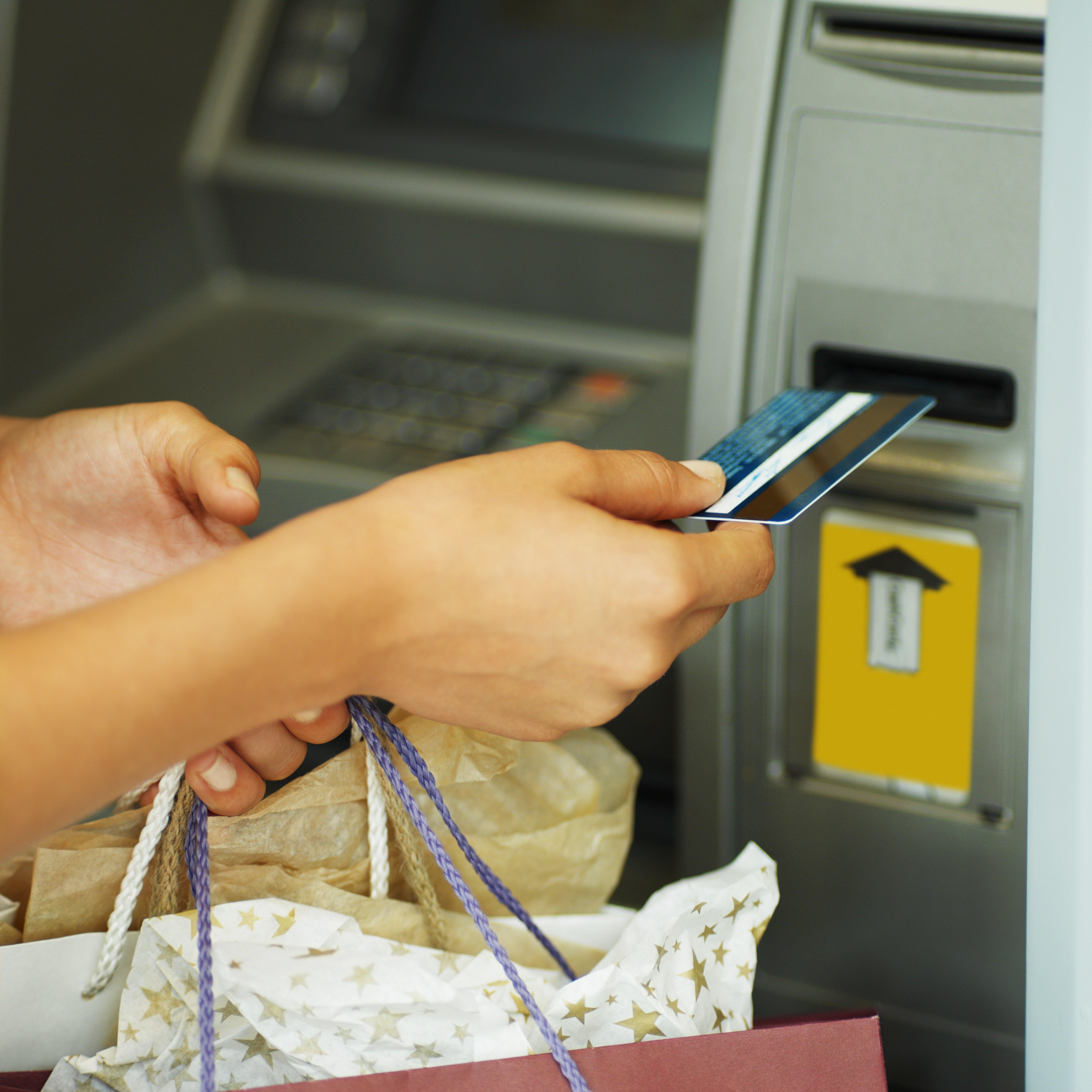 debit card at atm
