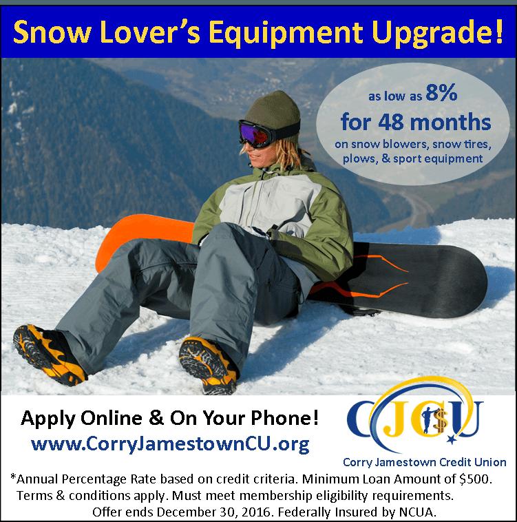 Snow blower loan, snow equipment loan, snow plow loan