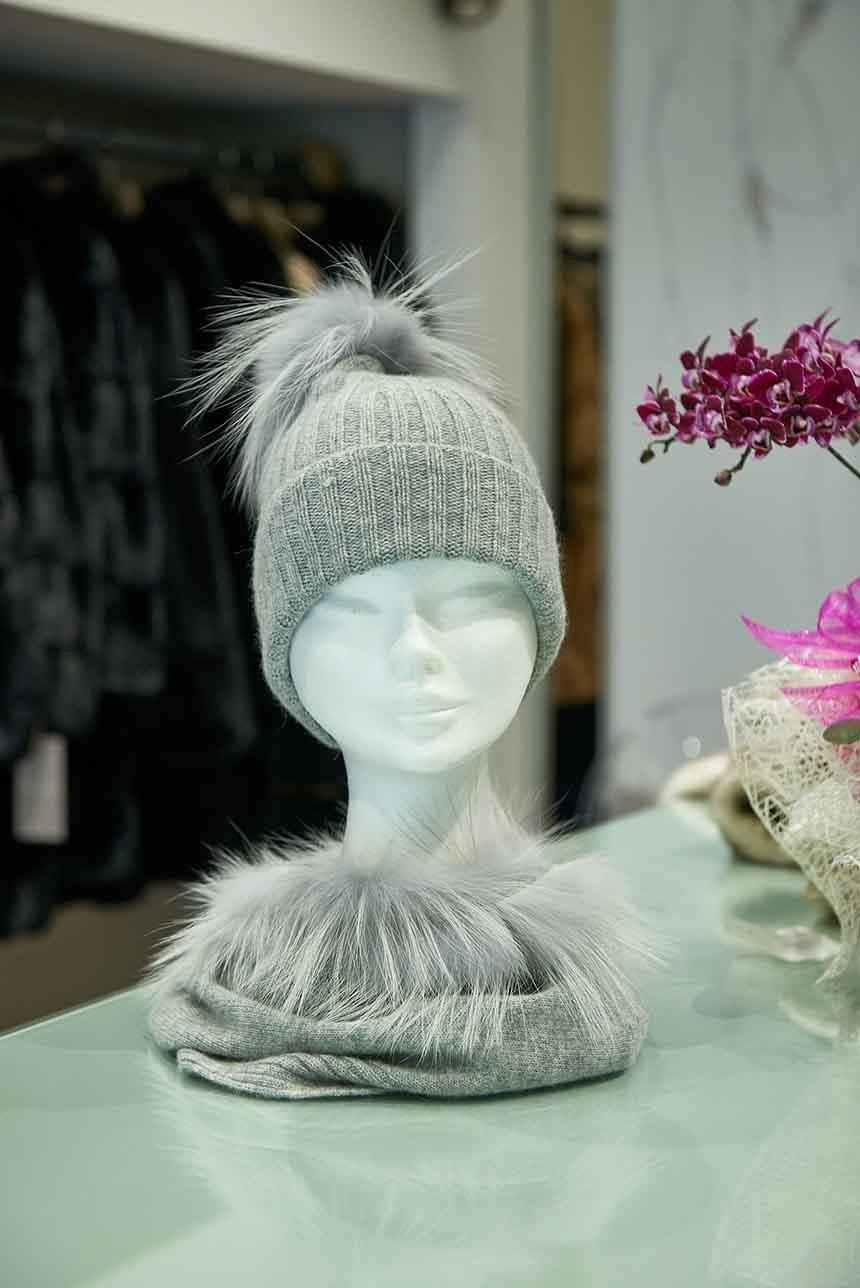 Cappello donna con pelliccia naturale
