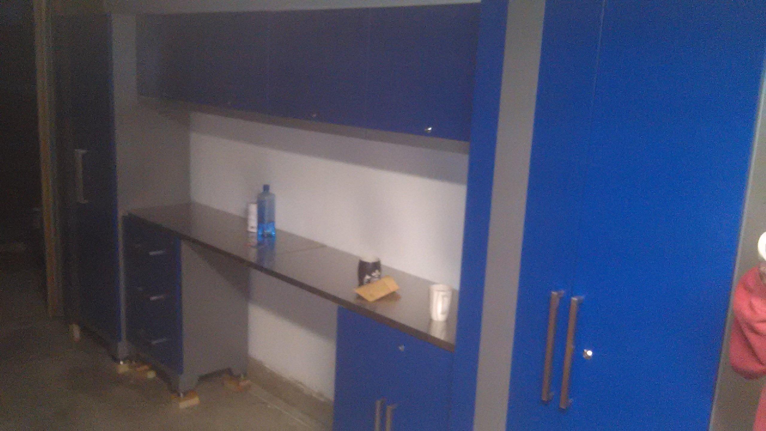 ikea guy garage cabinet install