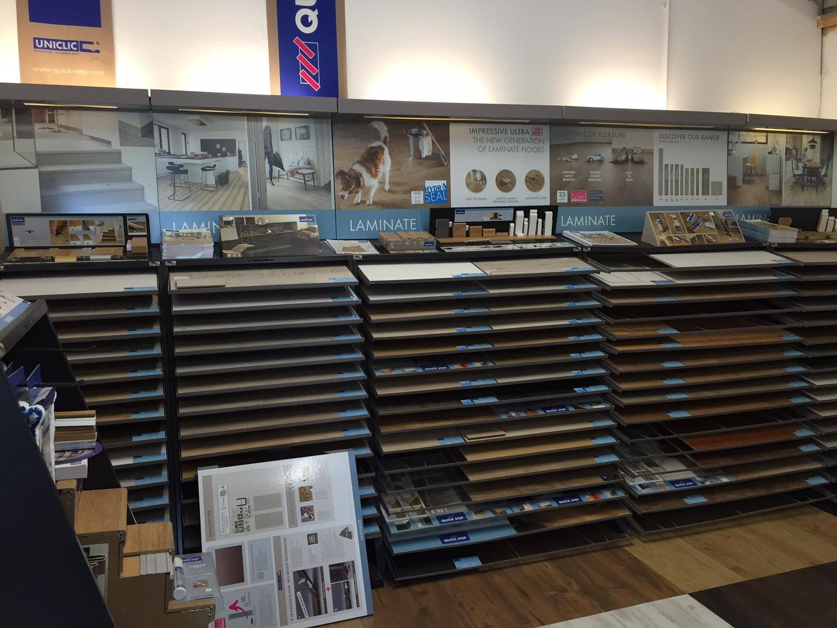 a wide range of flooring materials