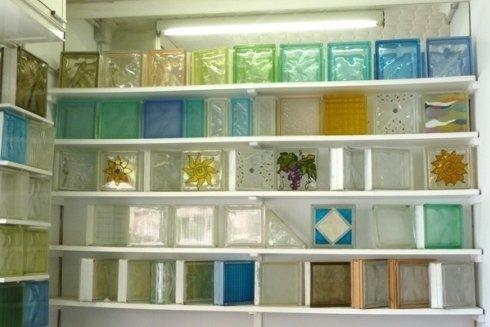 vetrocemento colorato e trasparente