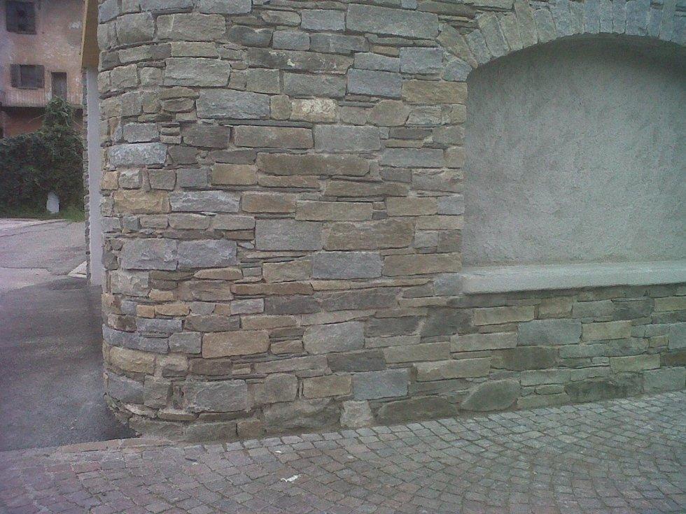 Muro rustico copertina Luserna a spacco