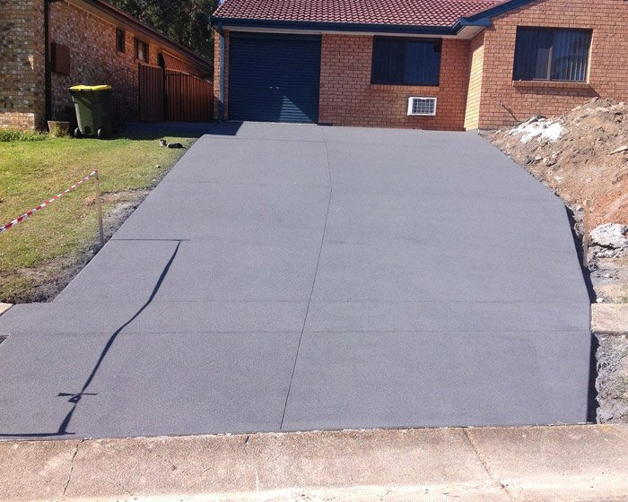 newly paved and repaired driveway