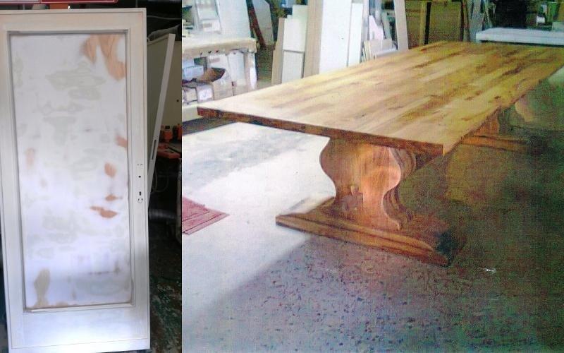 Restauro porta e tavolo