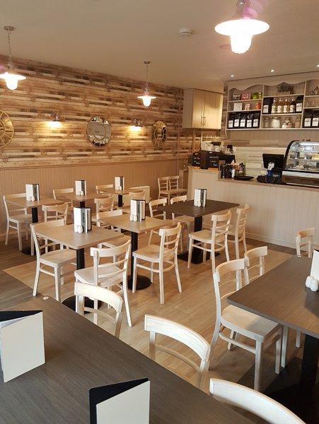 Interior view  of cafe  alba