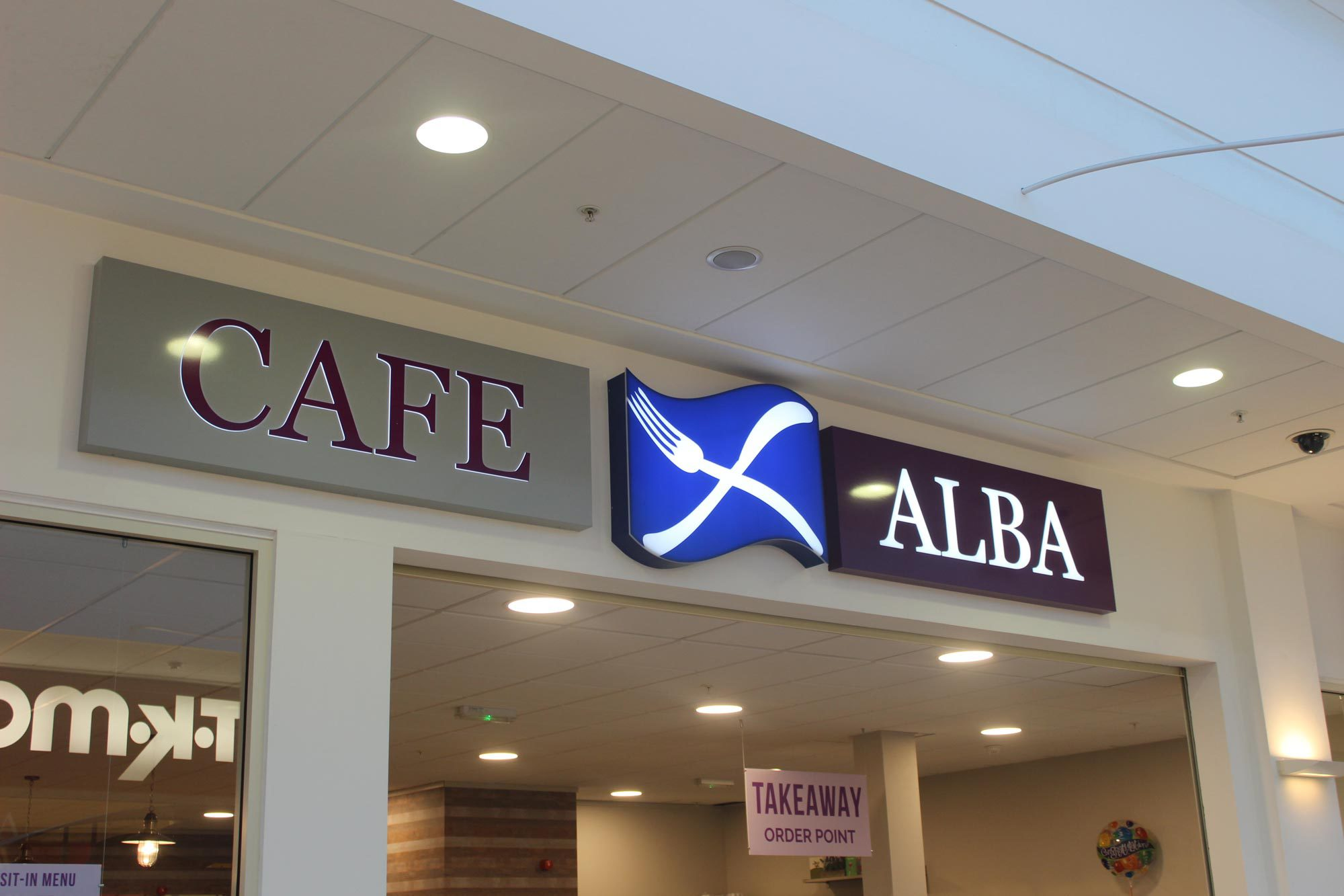 Cafe Alba sign signage