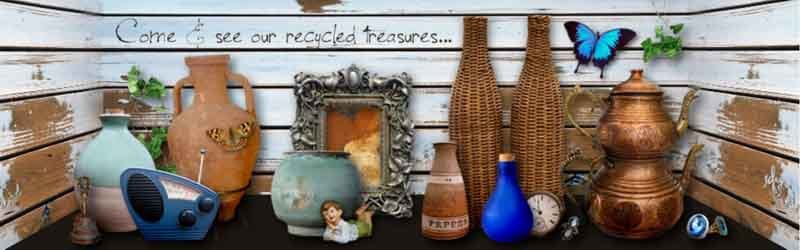 View of recyclable products