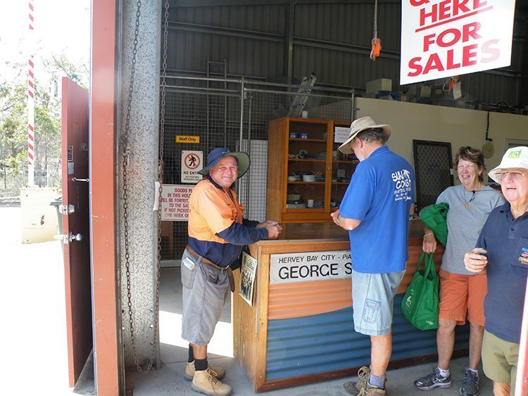 People visiting the store