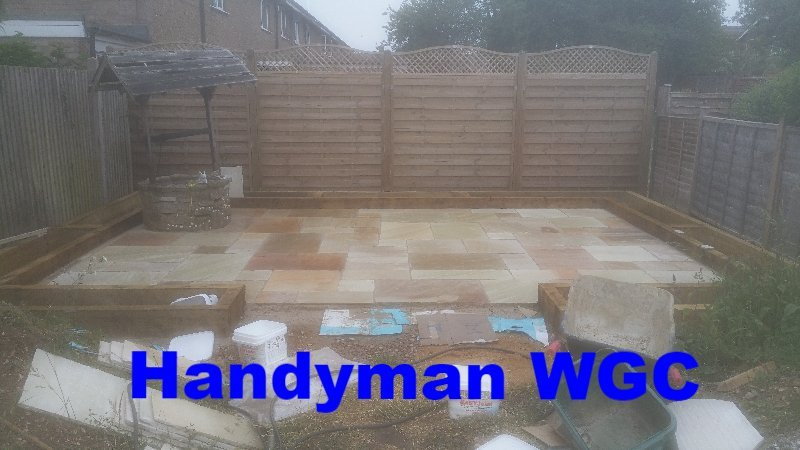 Handyman WGC, Fencing, Patio, Paving, Railway Sleepers, Raised Flower Beds, Decorative Fencing