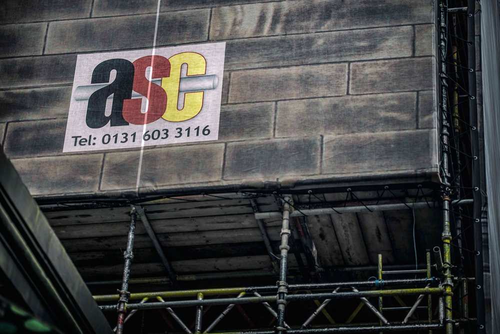 ASC logo on side of building