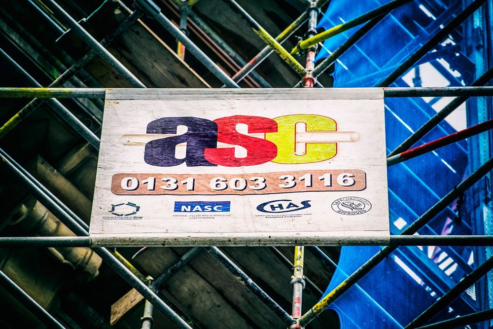 ASC logo on scaffolding
