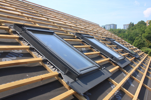 Skylights installed on roof in Jackson