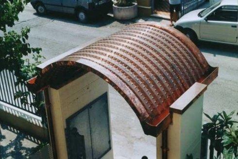 Copertura per struttura edile.