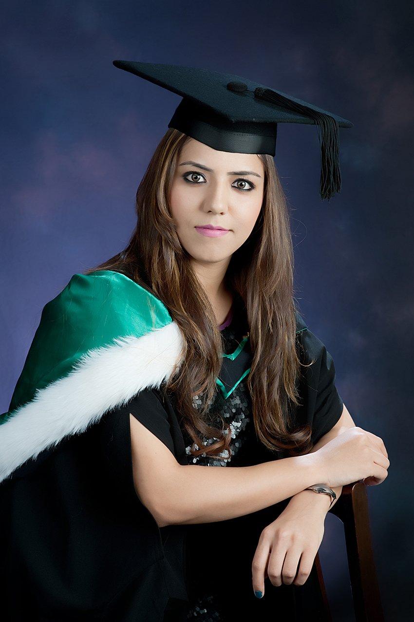 Graduate college girl