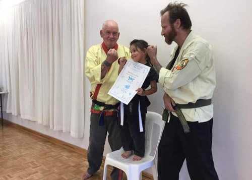 girl winning certificate