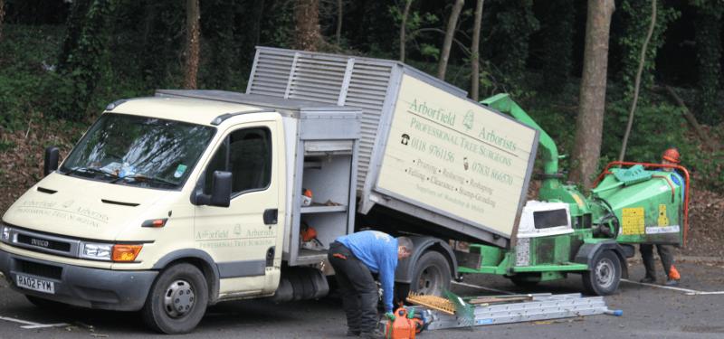 Arborfield Arborists vehicle