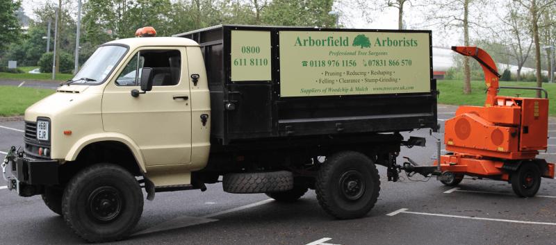 Arborfield Arborists truck