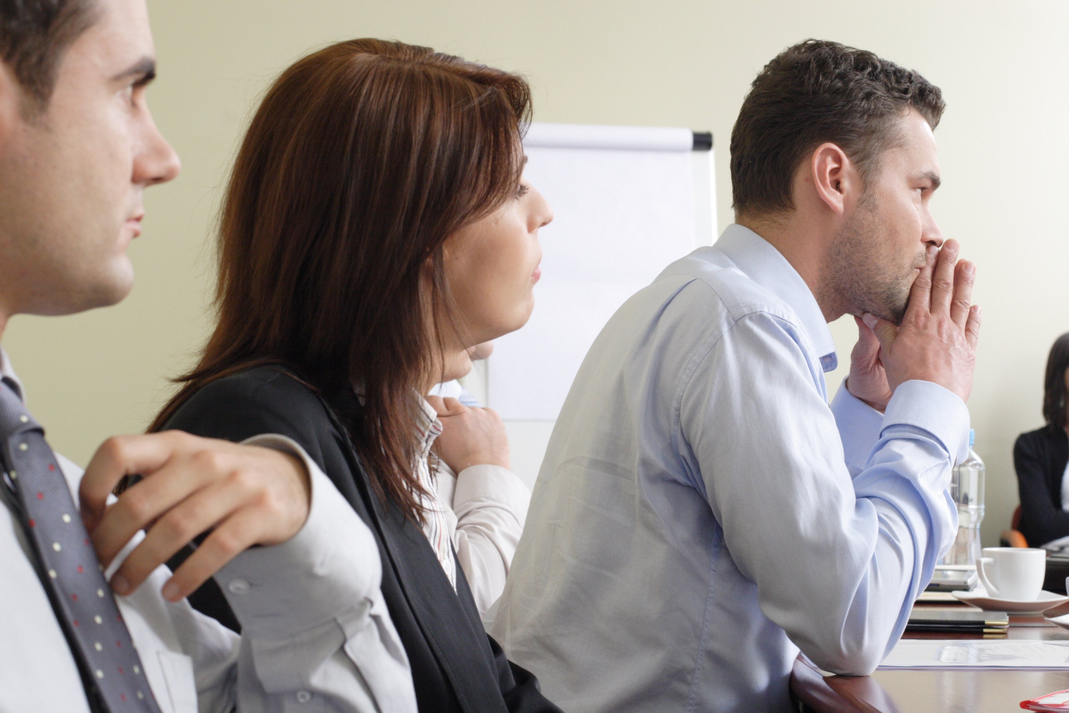 People in a mediation session