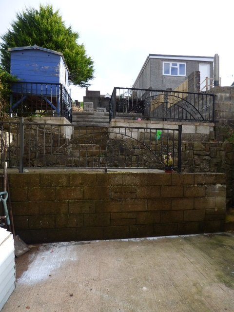 House for sale. High Street, Pontycymer. Rear of property