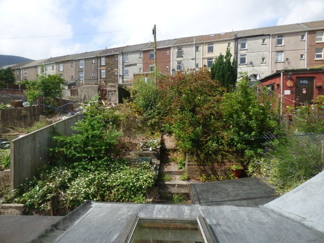 Wisemove. Property for sale. The Strand, Blaengarw. Rear view
