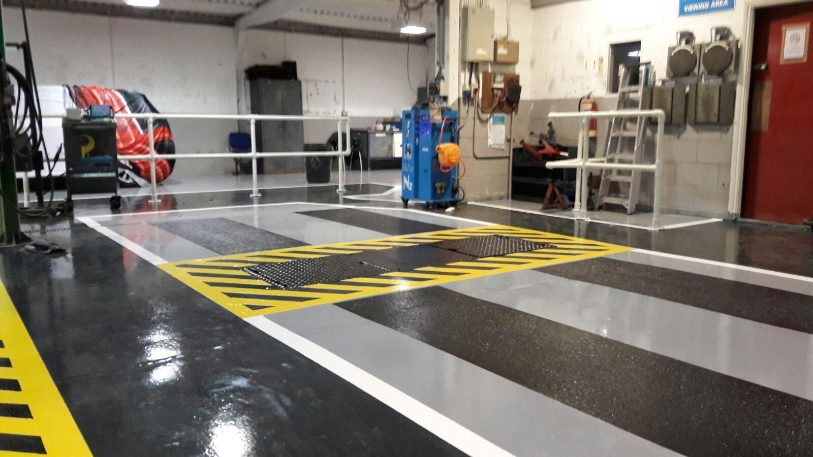 Epoxy garage flooring installers in the uk for Gallagher flooring