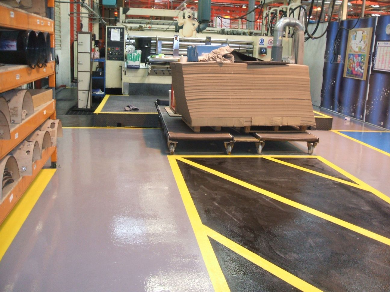Concrete flooring for packaging clients gallagher flooring for Gallagher flooring