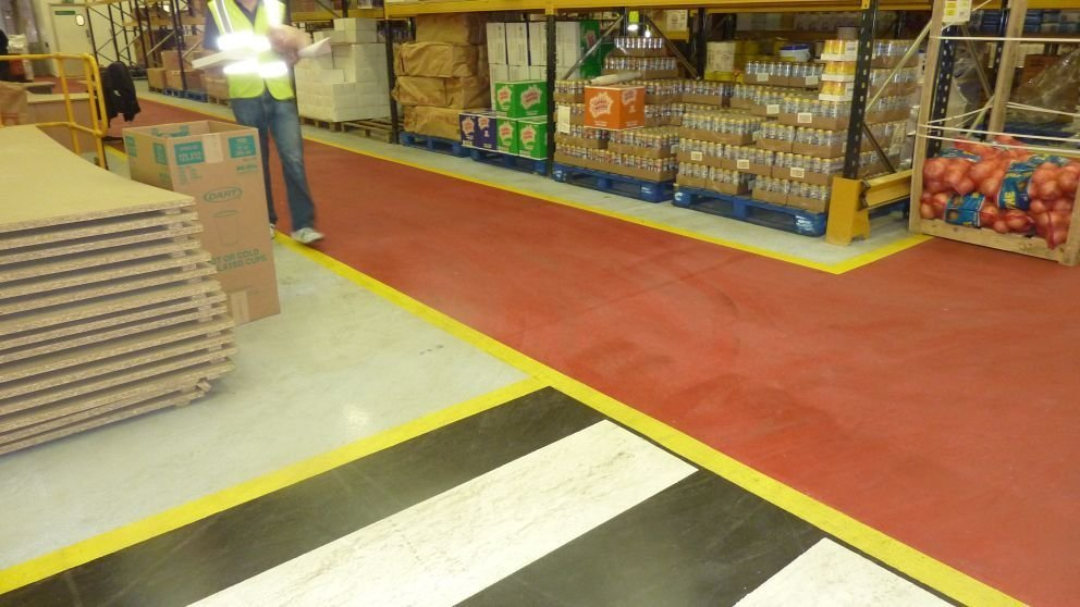 Professional warehouse painting services gallagher flooring for Gallagher flooring