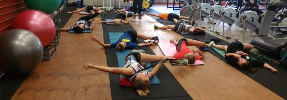 alpha omega health people workout in gym