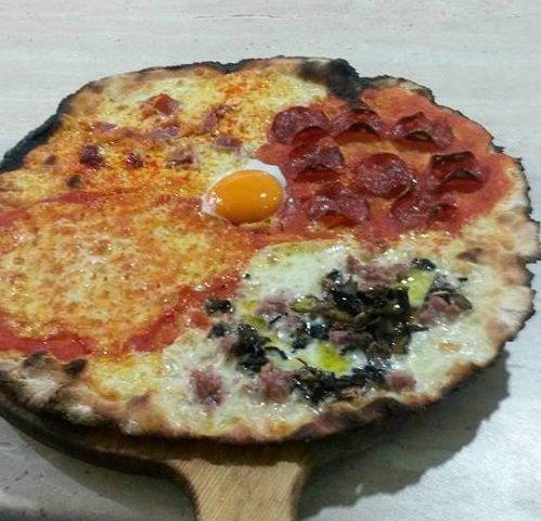 una pizza a quattro gusti