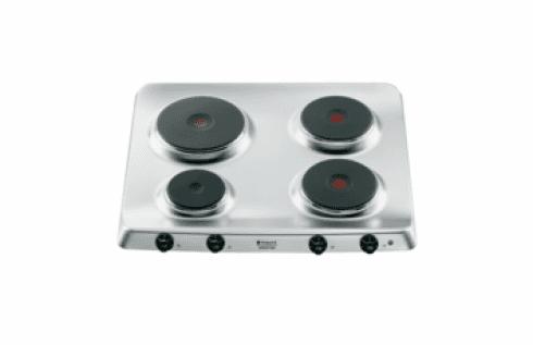 piano cottura con piastre in ghisa