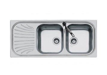 lavabo doppio con vasca di scolo