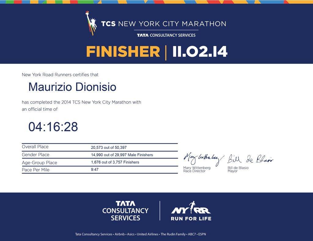 Finalista Maratona di New York