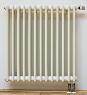 Newly Installed Radiator w/ Temperature Knob