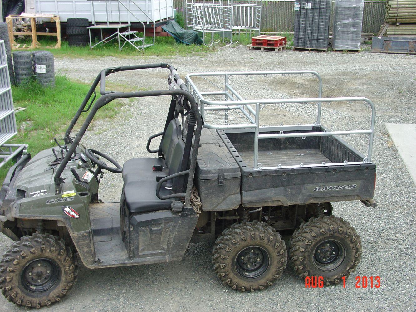Wheeler Rack customized for a ranger