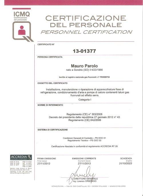 certificazione del personale