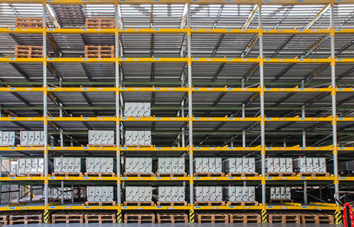 Warehouse in Melbourne with shelves of products
