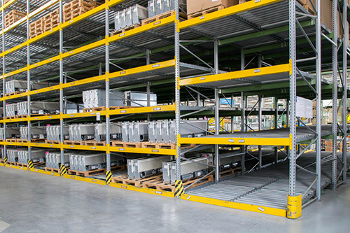 Warehouse shelves in Melbourne
