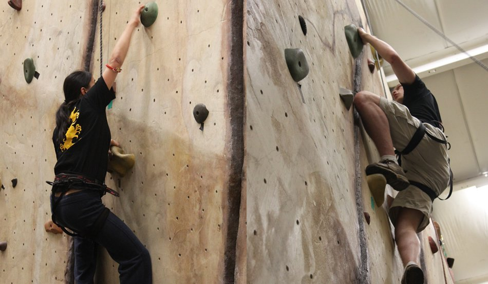 Rock Wall climbing gym