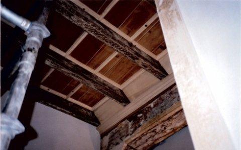 restauro, restauro conservativo, soffitto a cassettoni