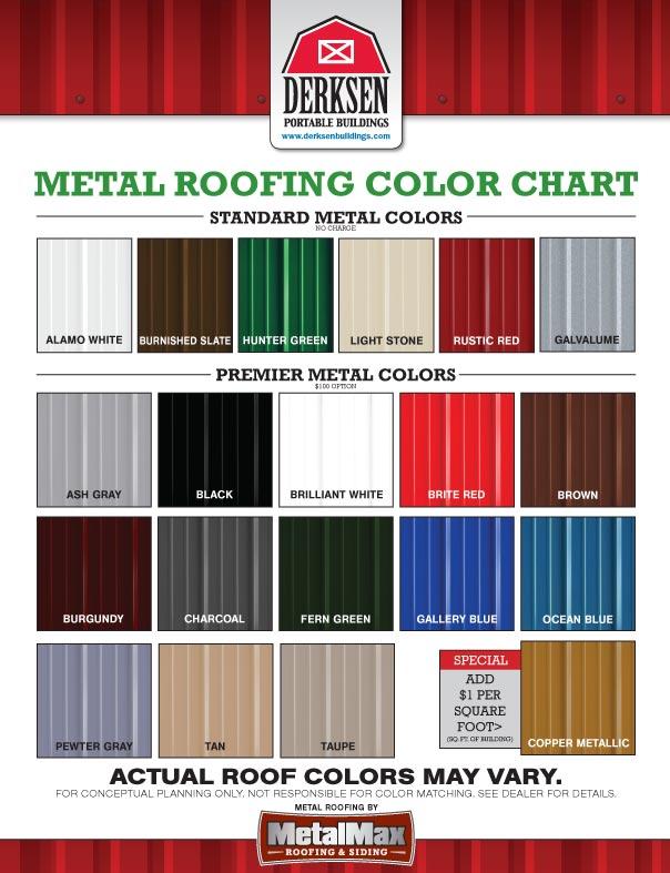 metal colors of portable buildings in arkansas