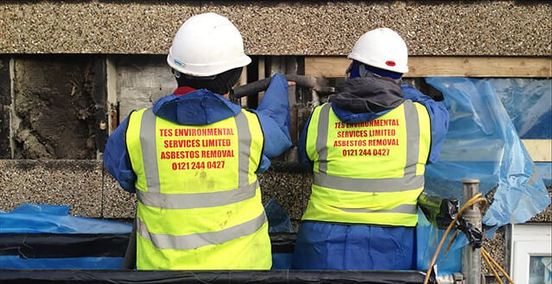Two men from TES Environmental Services Ltd