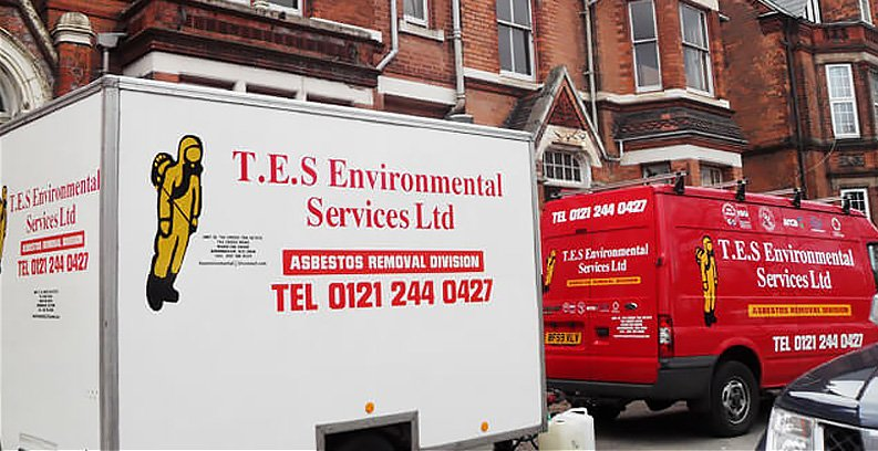 TES Environmental Services Ltd van and removal van