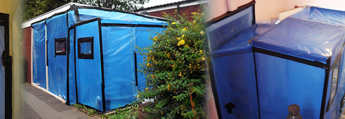 Asbestos removal enclosures and units
