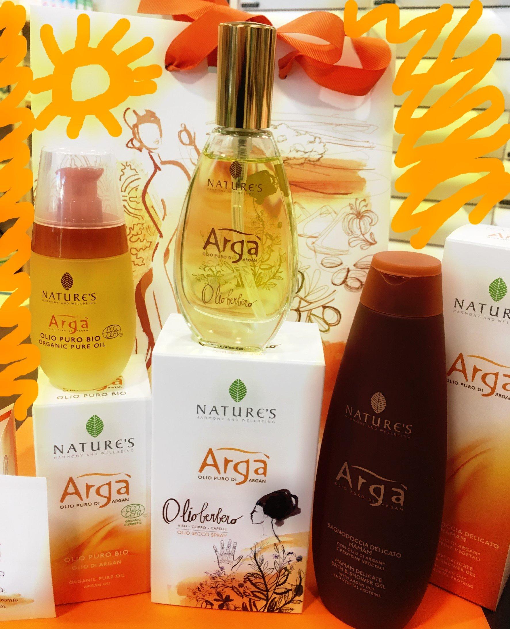 nature's, olio berbero, hamam bagnodoccia, olio puro argan bio