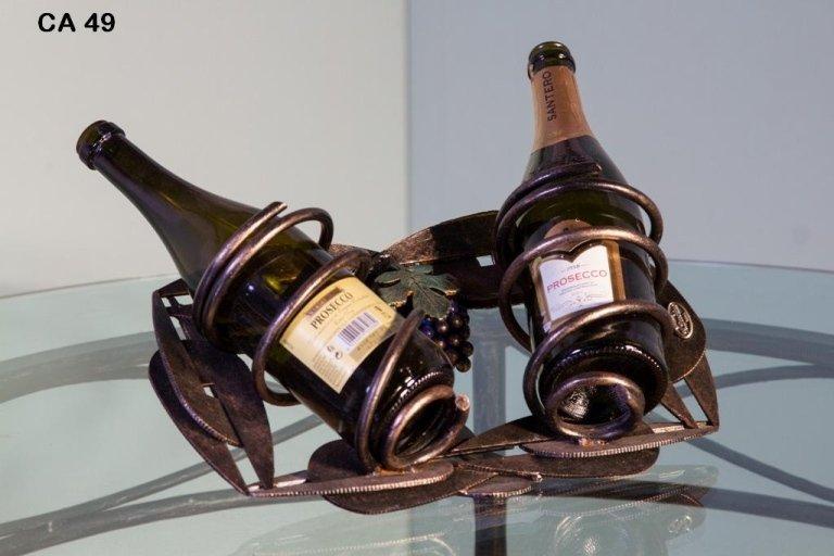 porta bottiglie ferro battuto