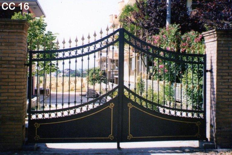 cancello carrabile ferro battuto