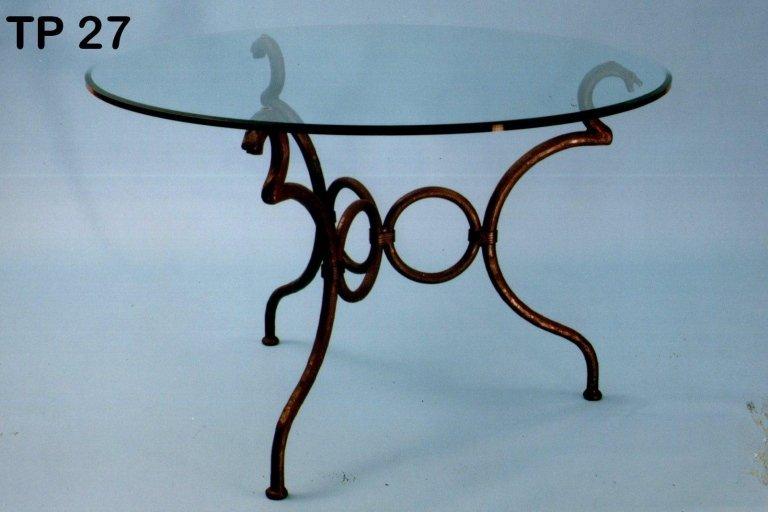 tavolo rettangolare in ferro battuto