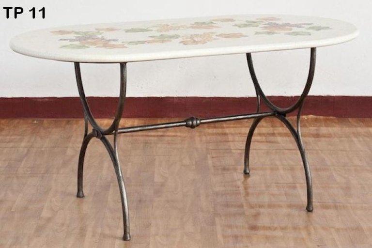 tavolo da poker in ferro battuto
