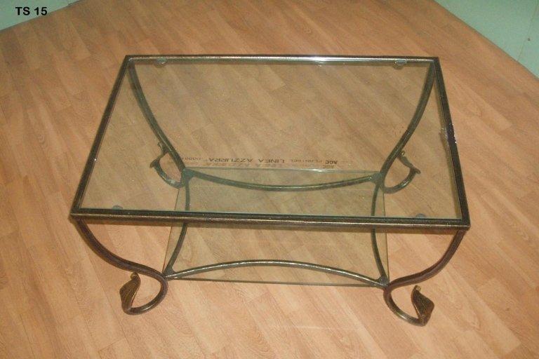 tavolo quadrato da salotto in lamiera